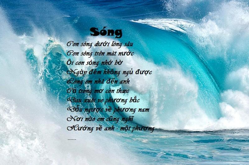Phân tích bài thơ Sóng