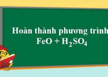 FeO + H2SO4 đặc nóng