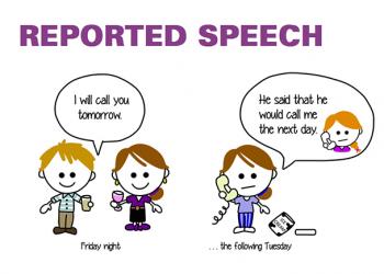 Công thức reported speech sử dụng sao trong Tiếng Anh?