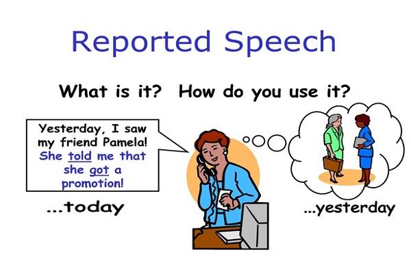 công thức reported speech