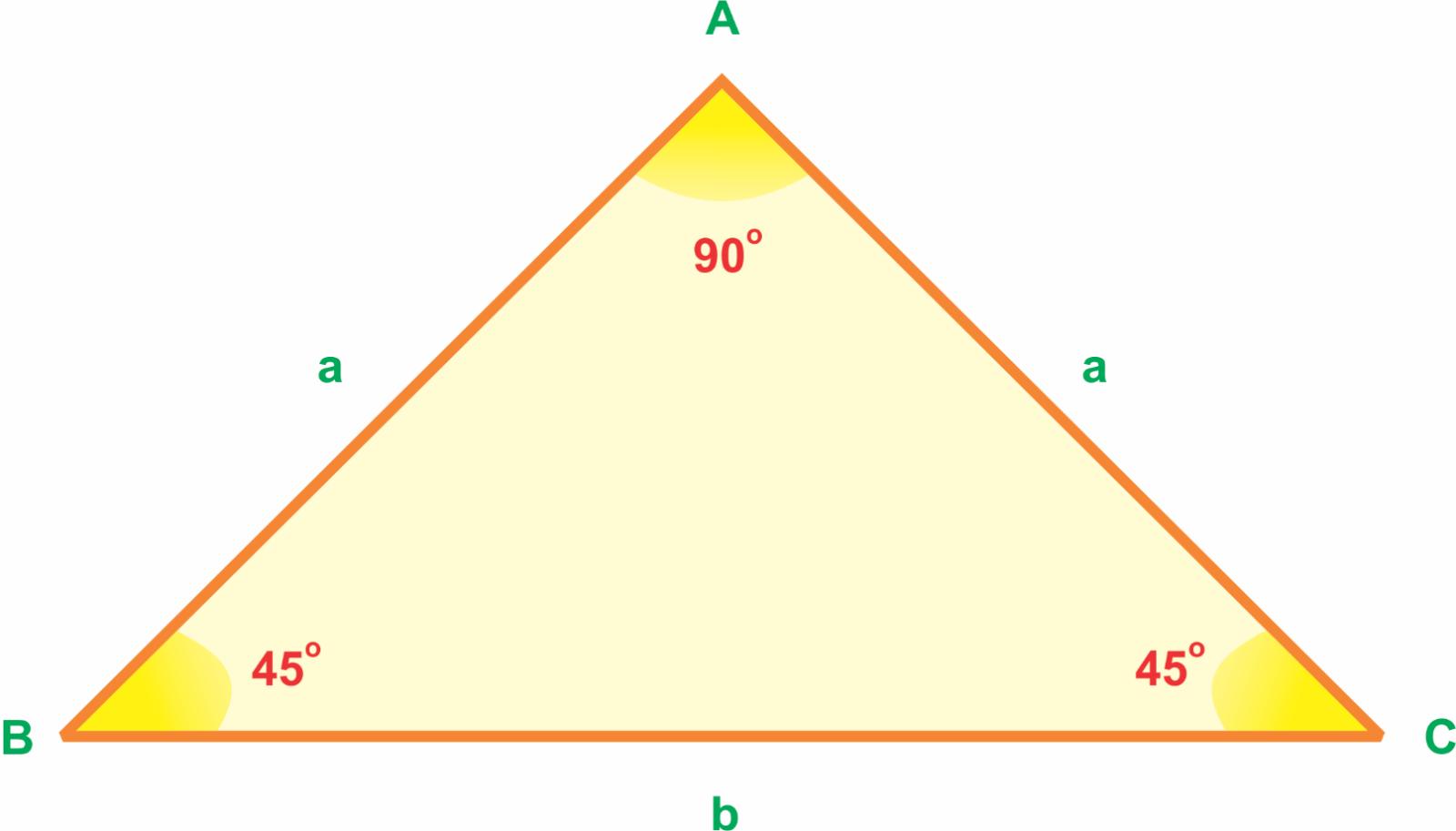 diện tích tam giác vuông