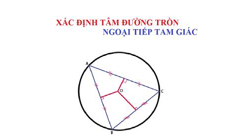 tâm đường tròn ngoại tiếp tam giác