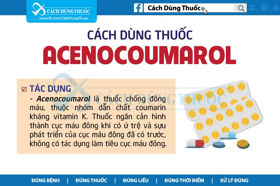 Liều lượng - cách dùng của thuốc acenocoumarol
