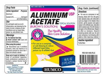 Thuốc Aluminium Acetate: Công dụng, cách sử dụng