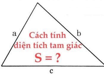 Công thức tính diện tích tam giác đầy đủ nhất