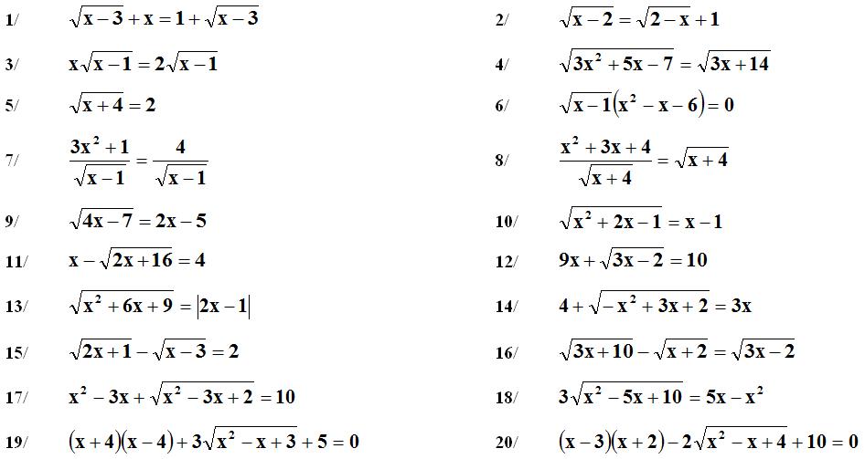 Giải phương trình bằng phép trừ