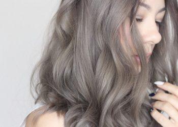 công thức nhuộm tóc màu xám khói chuẩn nhất 2021
