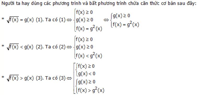 Giải bất phương trình bậc hai