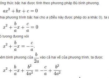 Cách giải công thức bậc hai nhanh gọn dễ hiểu nhất