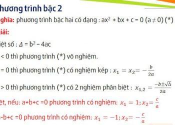 Tính toán phương trình bậc hai dễ hiểu nhất chưa đầy 1 phút