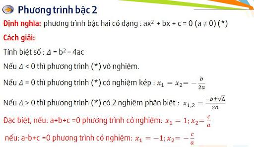 phương trình bậc hai