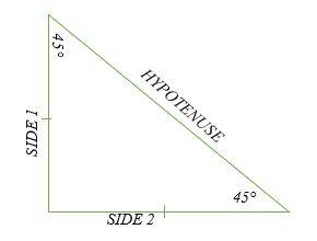 Tam giác 45 ° -45 ° -90 ° là gì?