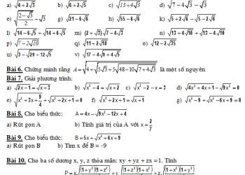 Cách tính căn bậc hai của một số nhanh gọn đơn giản nhất