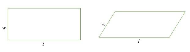 Chu vi hình chữ nhật và hình bình hành