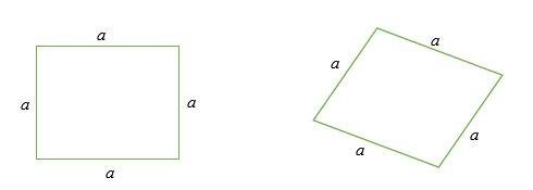 Chu vi hình vuông và hình thoi