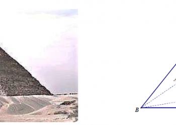 Chi tiết cách tính diện tích bề mặt của một kim tự tháp dễ nhất