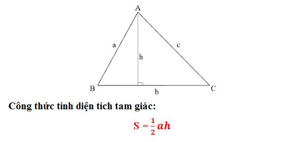 Làm thế nào để tìm diện tích của một tam giác?