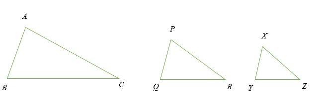 Hình minh họa các tam giác đồng dạng