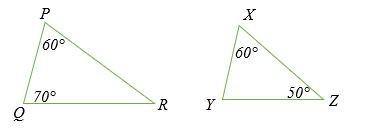 Kiểm tra xem hai tam giác dưới đây có đồng dạng không