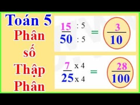 Làm thế nào để chuyển đổi một phân số thành phần trăm?