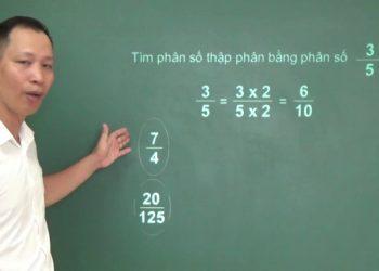 Chuyển đổi số thập phân thành phân số đơn giản nhất