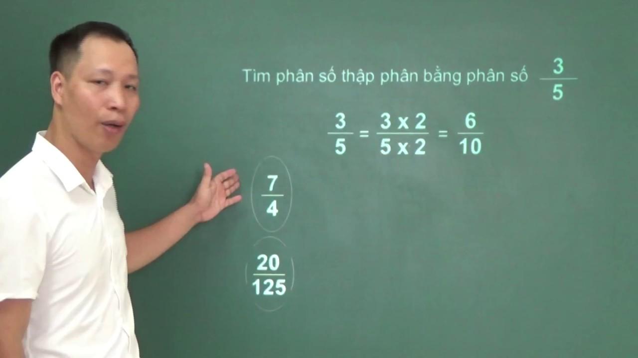 Chuyển đổi số thập phân thành phân số