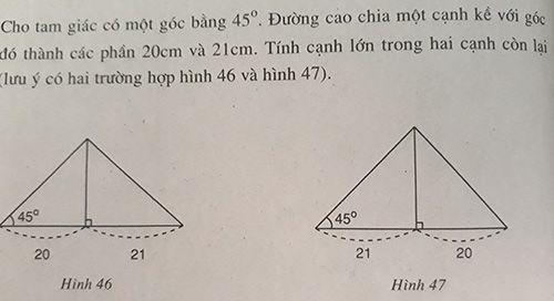 Làm thế nào để giải quyết một tam giác 45 ° -45 ° -90 °?
