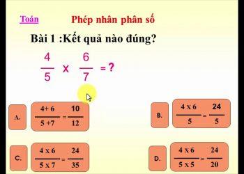 Hướng dẫn các bí quyết nhân phân số đơn giản nhất