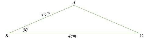 Tính độ dài cạnh AC của tam giác dưới đây.