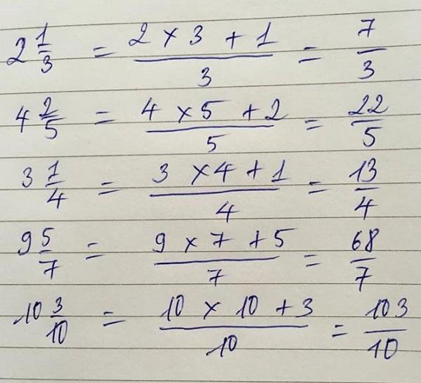 Làm thế nào để thêm các phân số hỗn hợp?
