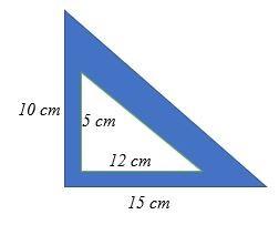 Tính diện tích vùng tô bóng trong tam giác vuông