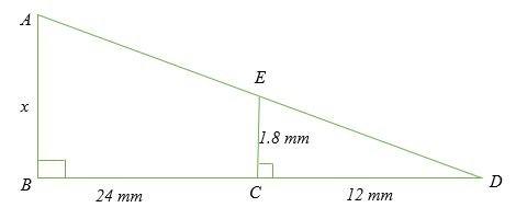 Xác định giá trị của x