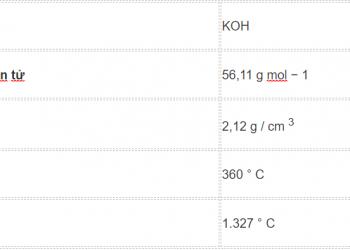 Công thức Kali Hydroxit là gì ? Cung tìm hiểu về nó.