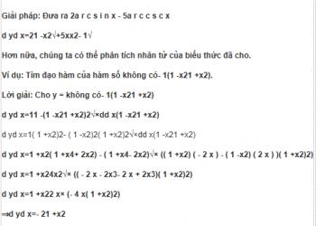 Đạo hàm của các hàm lượng giác ngược là gì? Xem xong hiểu luôn.