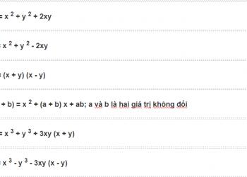 Các nhận dạng đại số cho lớp 9, xem xong hiểu luôn.