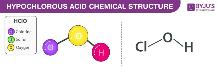 Công thức axit hypochlorous