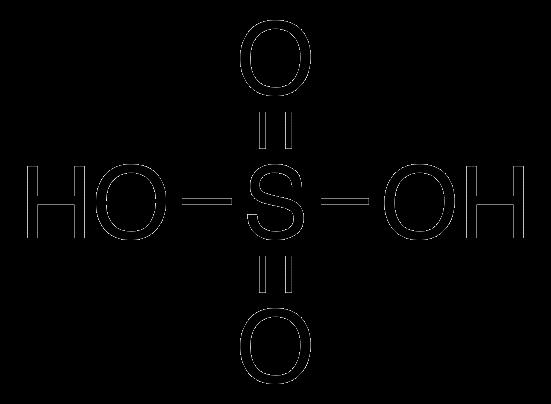 Công thức axit sulfuric