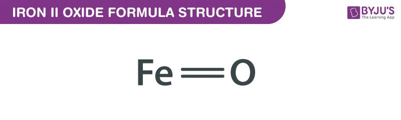 Công thức oxit sắt II