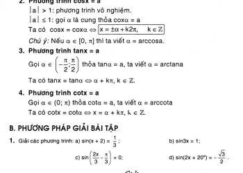 Phương trình lượng giác đầy đủ và chi tiết nhất