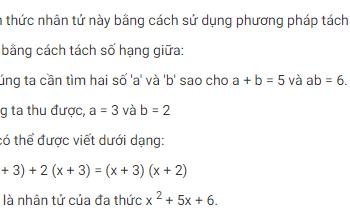 Tính toán đa thức: Cách tính thừa số là gì? Xem xong hiểu luôn.