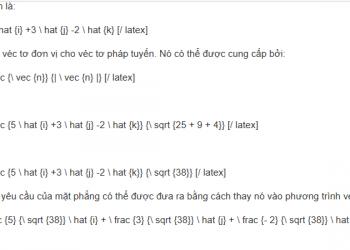 Phương trình của một mặt phẳng ở dạng chuẩn là gì? Xem xong hiểu luôn.