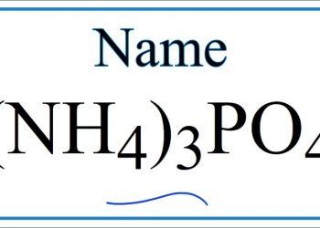 Amoni Phosphate – (NH4)3PO4 – Học hóa dễ dàng