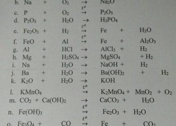 Cân bằng phương trình hóa học đơn giản nhất