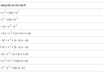 Công thức Toán học Lớp 8 là gì? Xem xong 5 phút hiểu luôn.