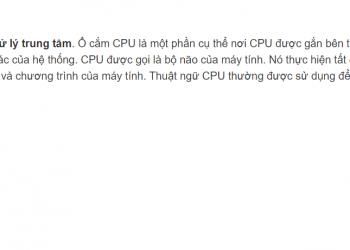 CPU trong máy tính giải thích chi tiết nhất