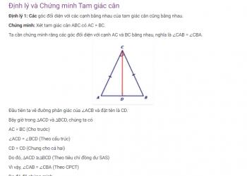 Định lý Tam giác cân là gì? Xem xong 5 phút hiểu luôn.