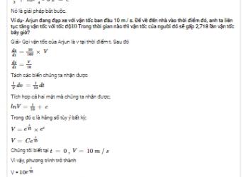 Giải pháp của phương trình vi phân có thể tách biệt là gì? Xem xong 5 phút hiểu luôn.