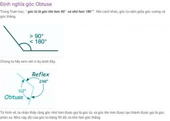 Góc Obtuse là gì? Xem xong 5 phút hiểu luôn.