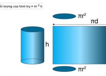 Khối lượng và công thức hình trụ có ví dụ và giải thích