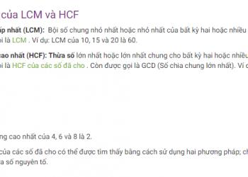 Thuộc tính của HCF và LCM là gì? Xem xong 5 phút hiểu luôn.